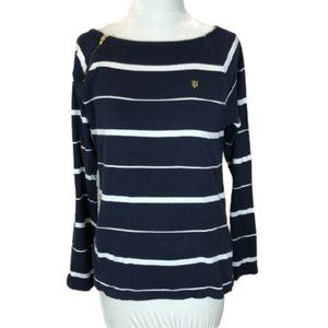 Tommy Hilfiger Long Sleeve Top Blue White Large